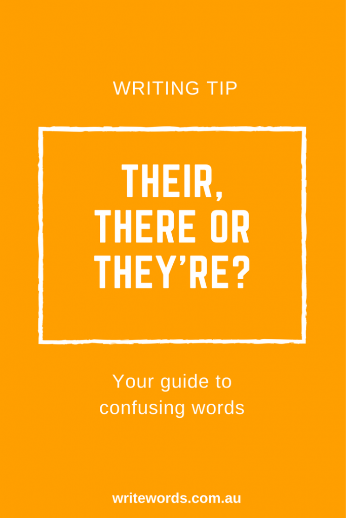 Word choice and avoiding confusion – here's my quick tip on how to differentiate between their, there and they're.