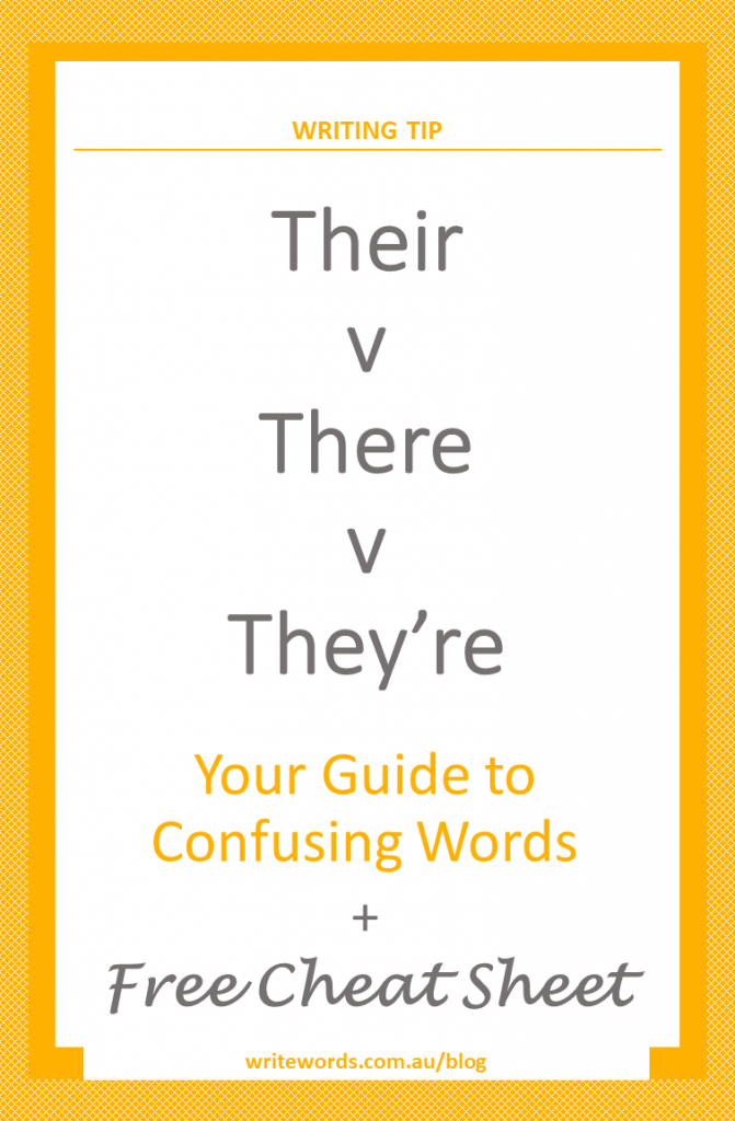 Confusing words - their, there and they're