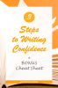 Write faster and with more confidence in three easy steps with this short (and free) video training. In business. At work. On your blog. #writingtips #writewithconfidence #freecourse