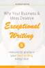 Hat covering woman's face with text overlay – Why your business and ideas deserve exceptional writing – 6 reasons to produce your best writing every time